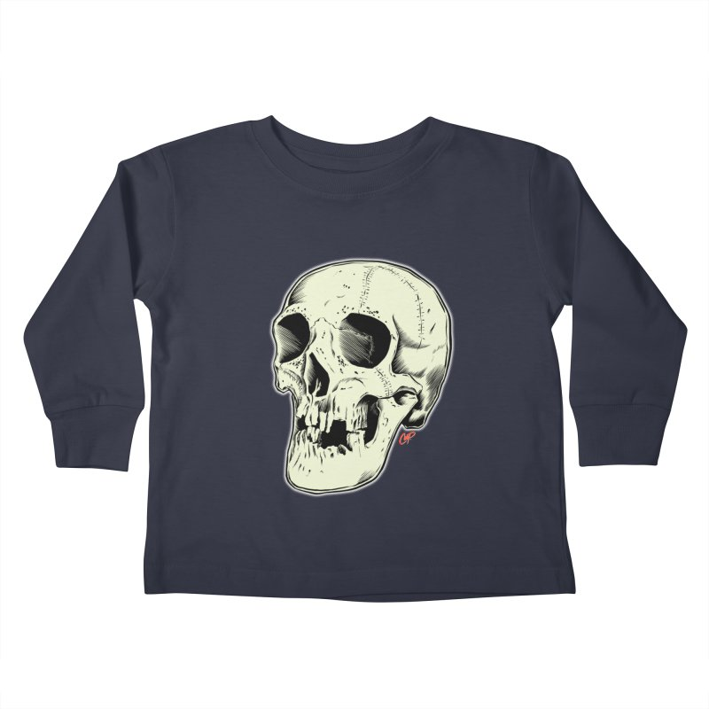 HAUNTED SKULL Kids Toddler Longsleeve T-Shirt by The Art of Coop