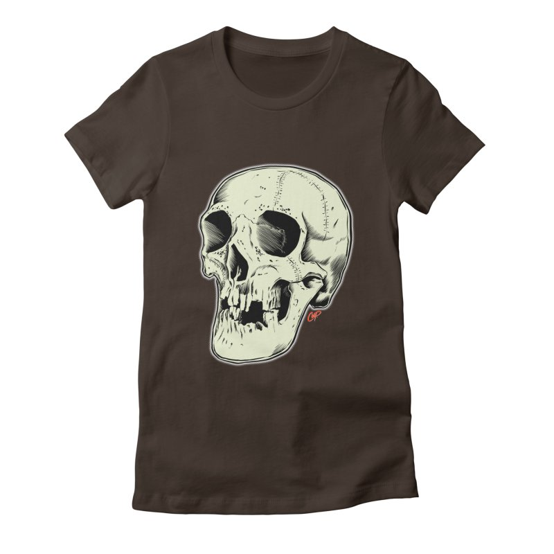 HAUNTED SKULL Women's Fitted T-Shirt by The Art of Coop