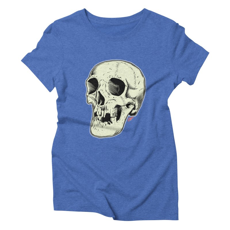 HAUNTED SKULL Women's Triblend T-Shirt by The Art of Coop