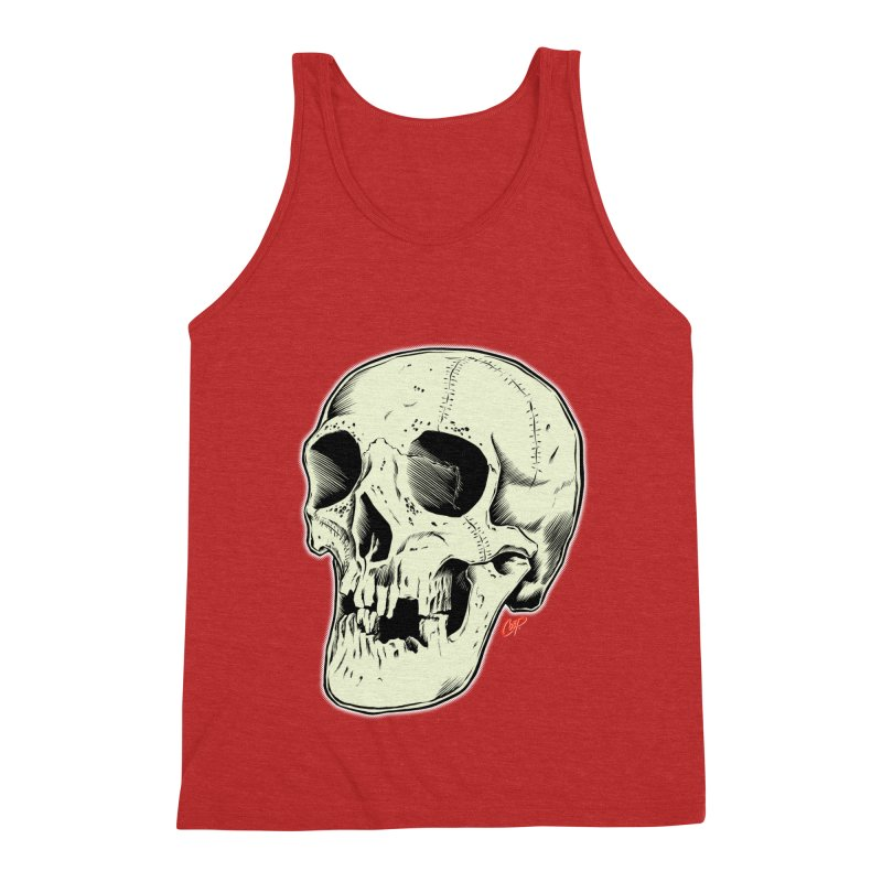 HAUNTED SKULL Men's Triblend Tank by The Art of Coop