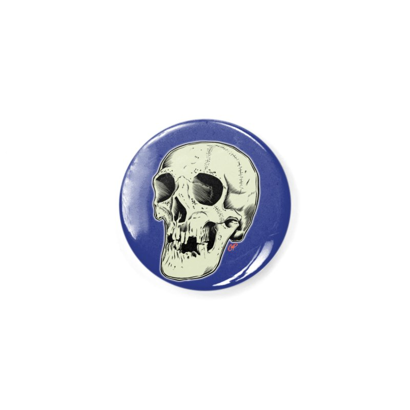 HAUNTED SKULL Accessories Button by The Art of Coop