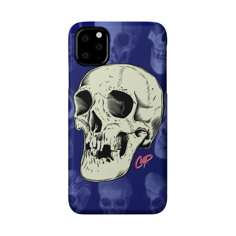 HAUNTED SKULL Accessories Phone Case by The Art of Coop