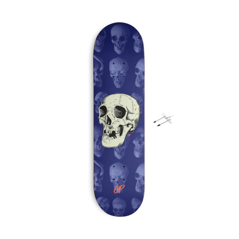 HAUNTED SKULL Accessories With Hanging Hardware Skateboard by The Art of Coop