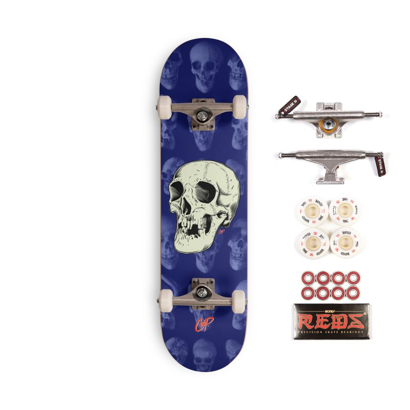 HAUNTED SKULL Accessories Complete - Pro Skateboard by The Art of Coop