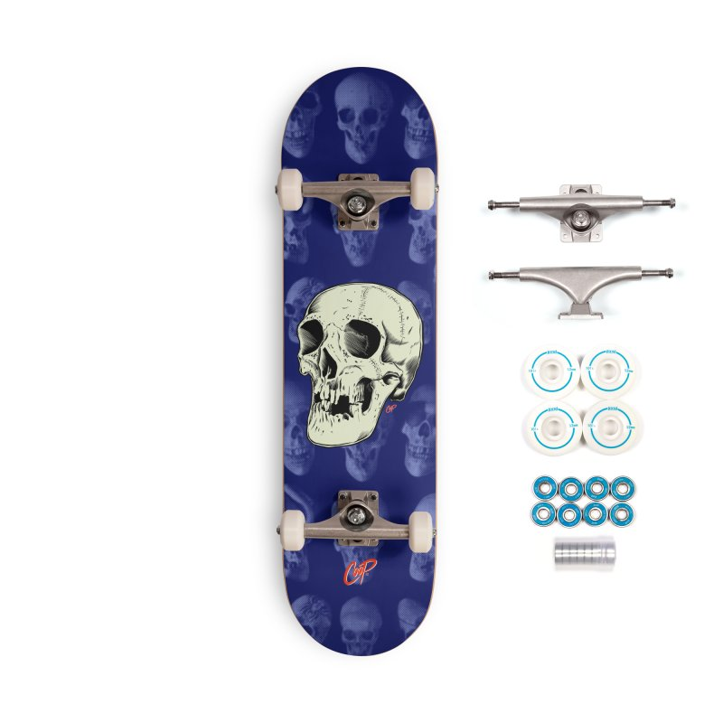 HAUNTED SKULL Accessories Complete - Basic Skateboard by The Art of Coop
