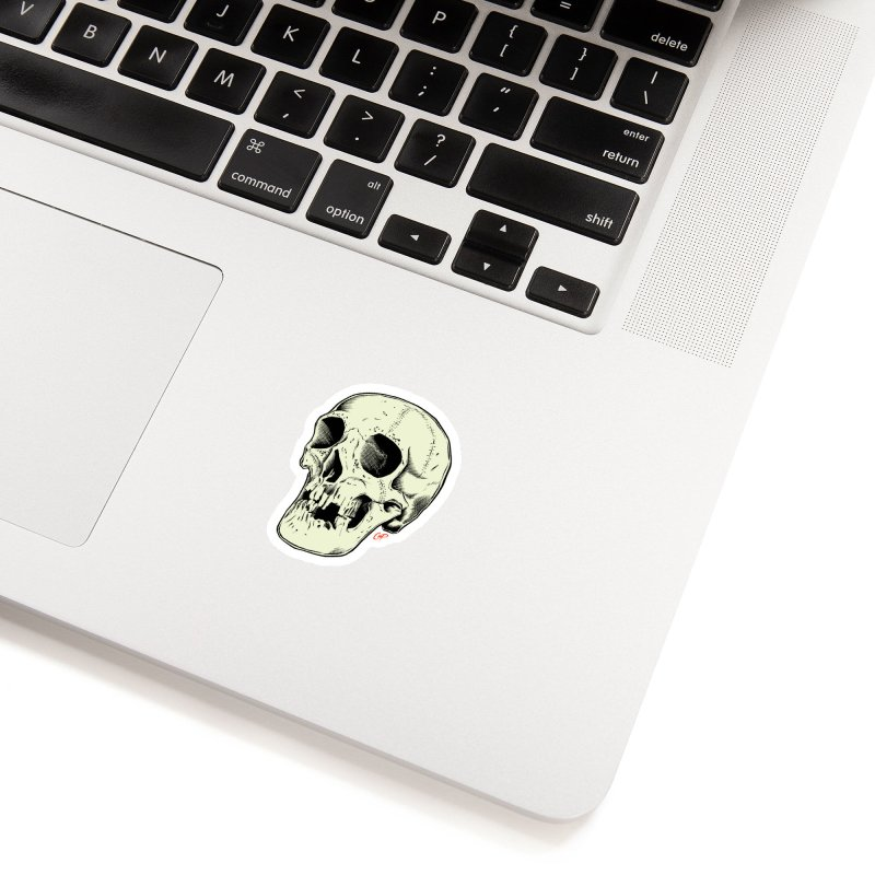 HAUNTED SKULL Accessories Sticker by The Art of Coop