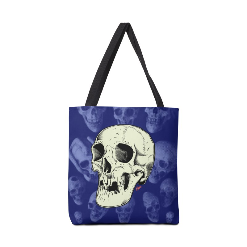 HAUNTED SKULL Accessories Tote Bag Bag by The Art of Coop