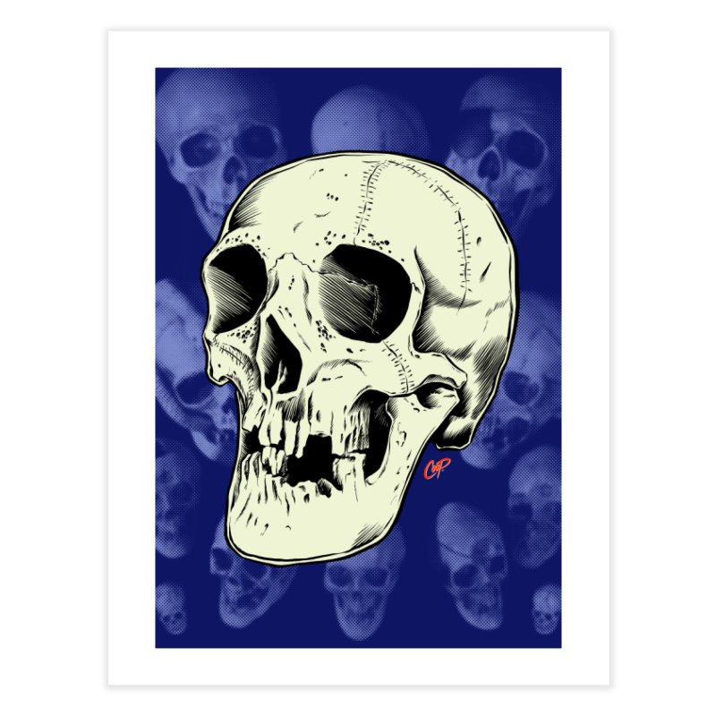 HAUNTED SKULL Home Fine Art Print by The Art of Coop