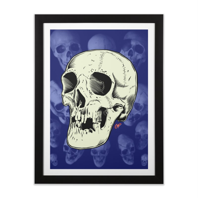 HAUNTED SKULL Home Framed Fine Art Print by The Art of Coop