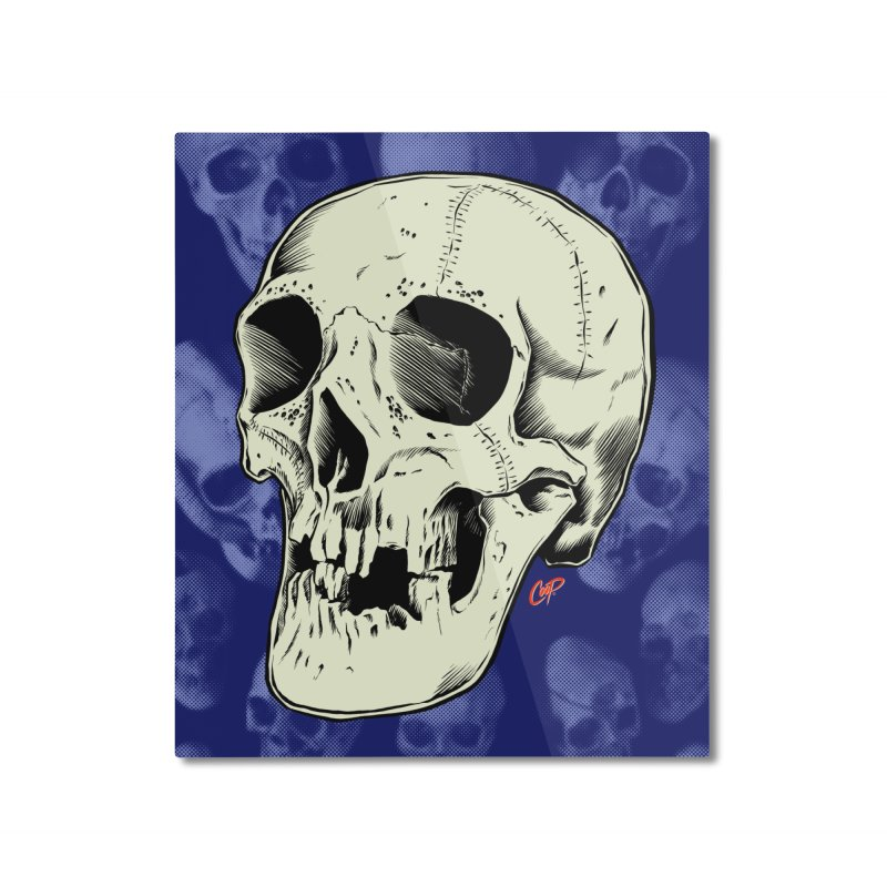 HAUNTED SKULL Home Mounted Aluminum Print by The Art of Coop