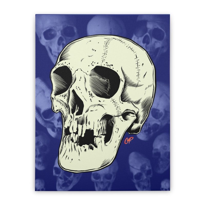 HAUNTED SKULL Home Stretched Canvas by The Art of Coop