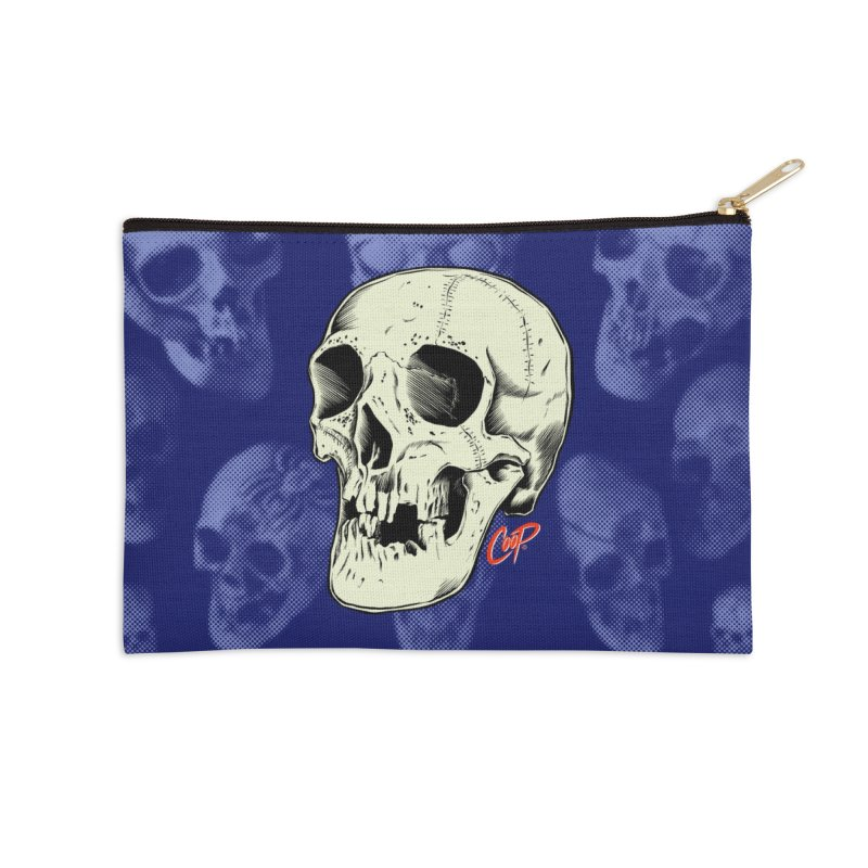 HAUNTED SKULL Accessories Zip Pouch by The Art of Coop