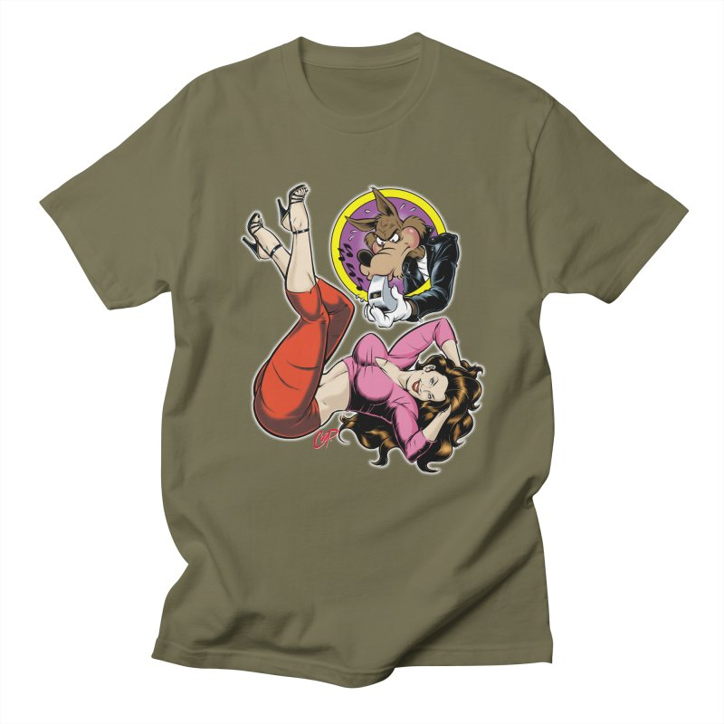 WOLF WHISTLE Men's T-Shirt by The Art of Coop