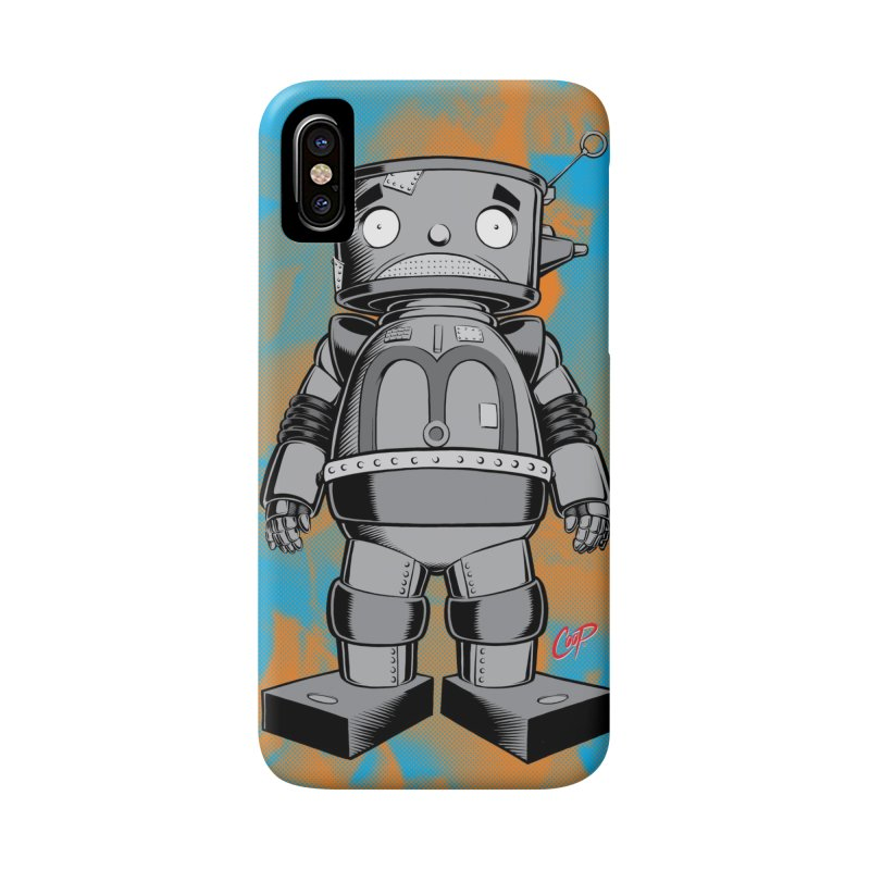 CRAPBOT in iPhone X Phone Case Slim by artofcoop's Artist Shop