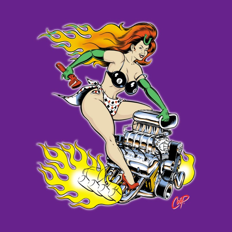 OUR HOLY MOTHER OF THE DRAGSTRIP by The Art of Coop