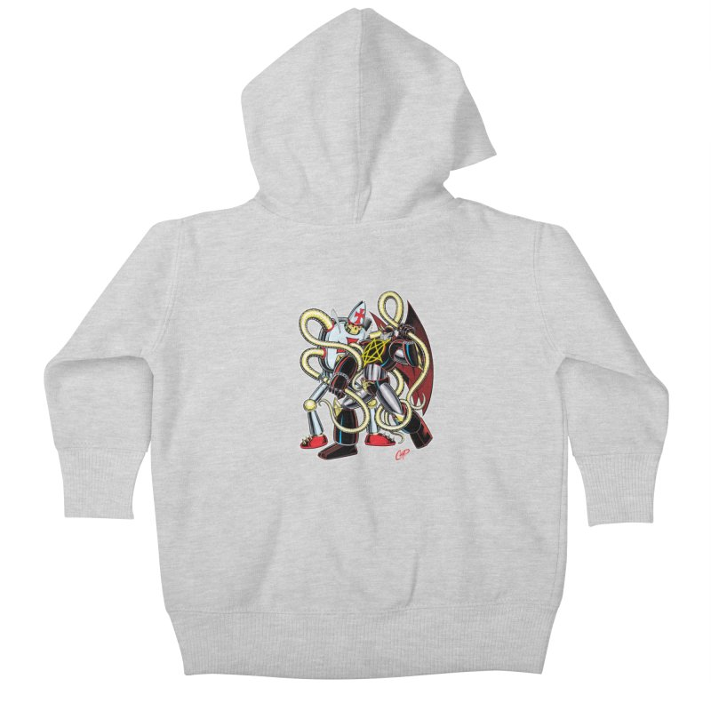 MEGA THERION VS. PIOUSBOT 9000 Kids Baby Zip-Up Hoody by artofcoop's Artist Shop