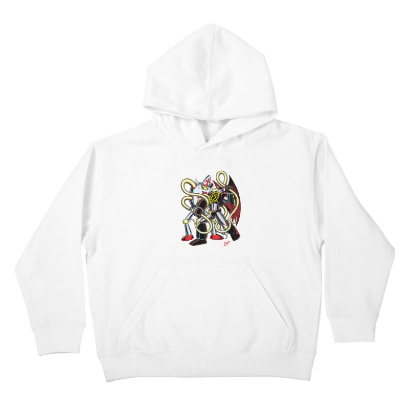MEGA THERION VS. PIOUSBOT 9000 Kids Pullover Hoody by artofcoop's Artist Shop