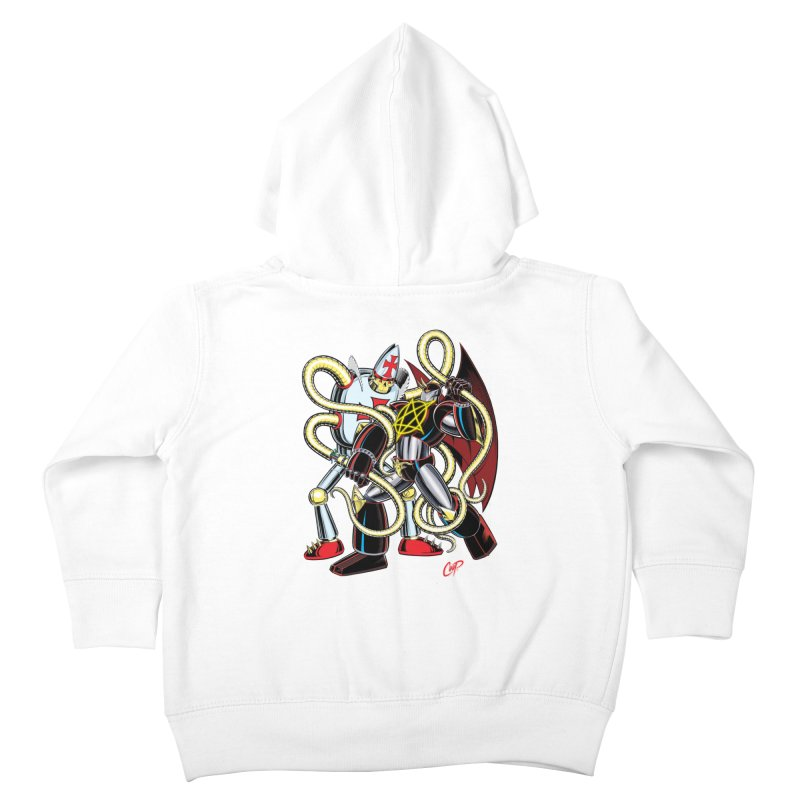 MEGA THERION VS. PIOUSBOT 9000 Kids Toddler Zip-Up Hoody by artofcoop's Artist Shop