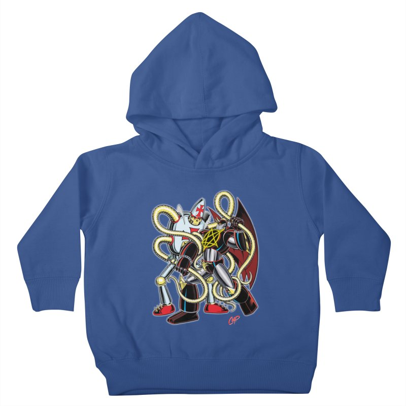 MEGA THERION VS. PIOUSBOT 9000 Kids Toddler Pullover Hoody by artofcoop's Artist Shop