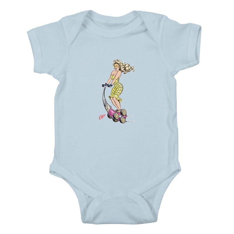 SCOOTER GIRL Kids Baby Bodysuit by artofcoop's Artist Shop