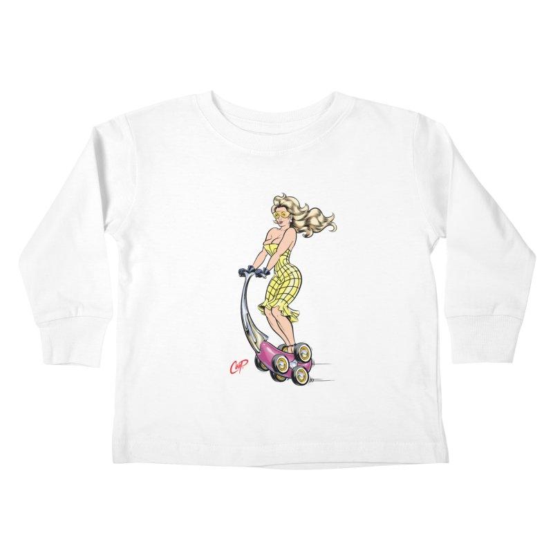 SCOOTER GIRL Kids Toddler Longsleeve T-Shirt by artofcoop's Artist Shop