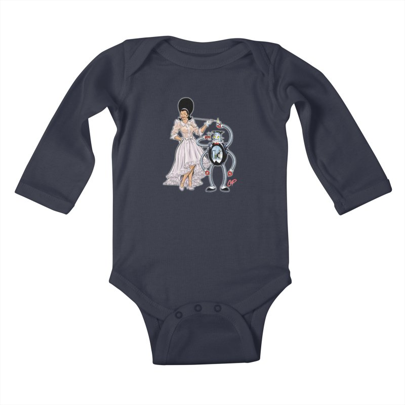 ROBUTLER Kids Baby Longsleeve Bodysuit by artofcoop's Artist Shop