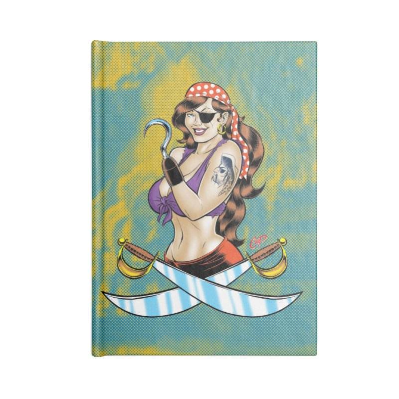 DRAW THE PIRATE in Blank Journal Notebook by artofcoop's Artist Shop