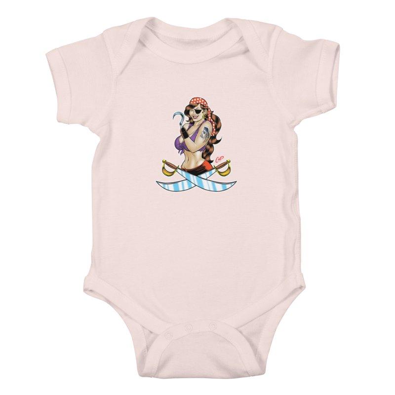 DRAW THE PIRATE Kids Baby Bodysuit by artofcoop's Artist Shop