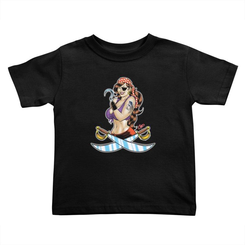 DRAW THE PIRATE Kids Toddler T-Shirt by artofcoop's Artist Shop