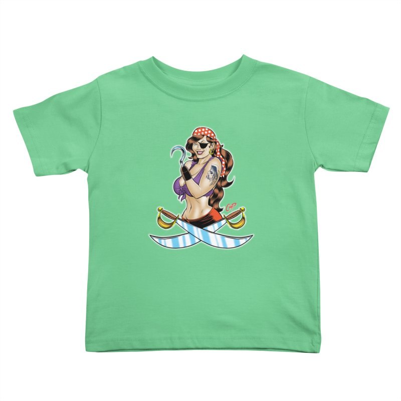 DRAW THE PIRATE Kids Toddler T-Shirt by artofcoop's Artist Shop
