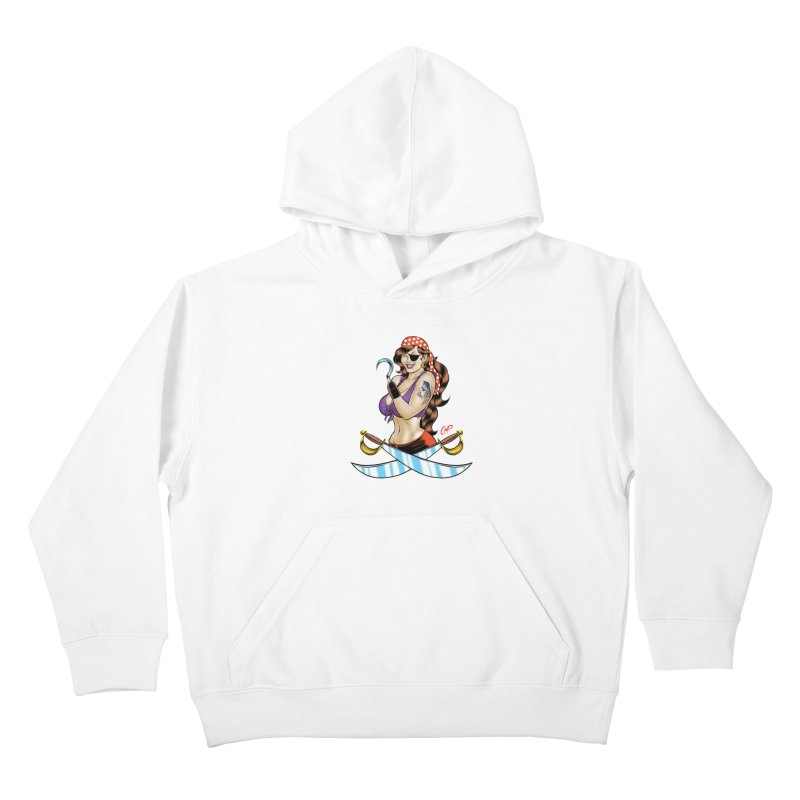 DRAW THE PIRATE Kids Pullover Hoody by artofcoop's Artist Shop
