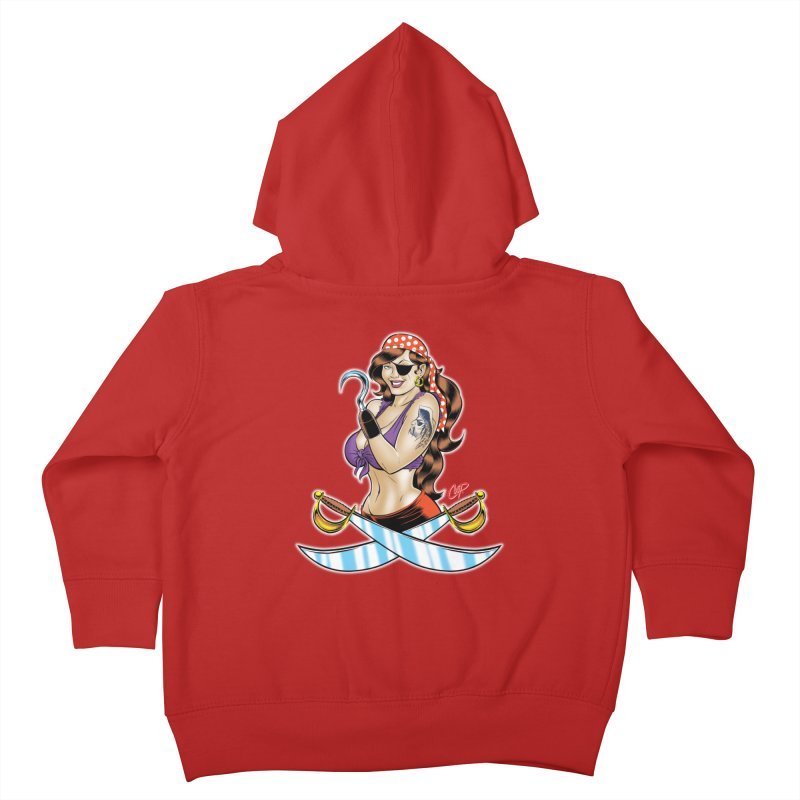 DRAW THE PIRATE Kids Toddler Zip-Up Hoody by artofcoop's Artist Shop