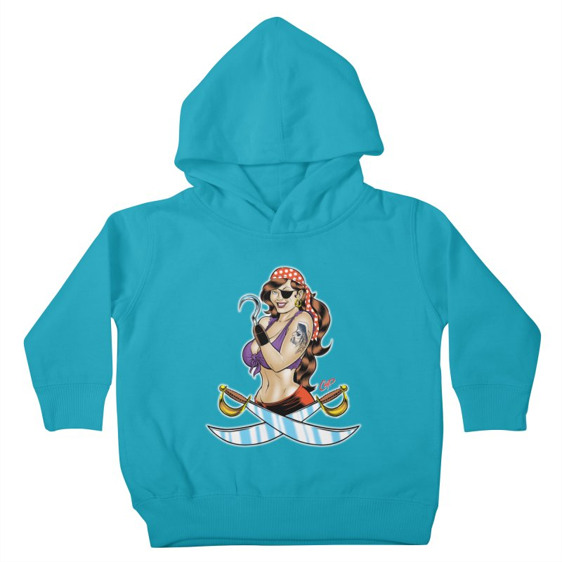 DRAW THE PIRATE Kids Toddler Pullover Hoody by artofcoop's Artist Shop