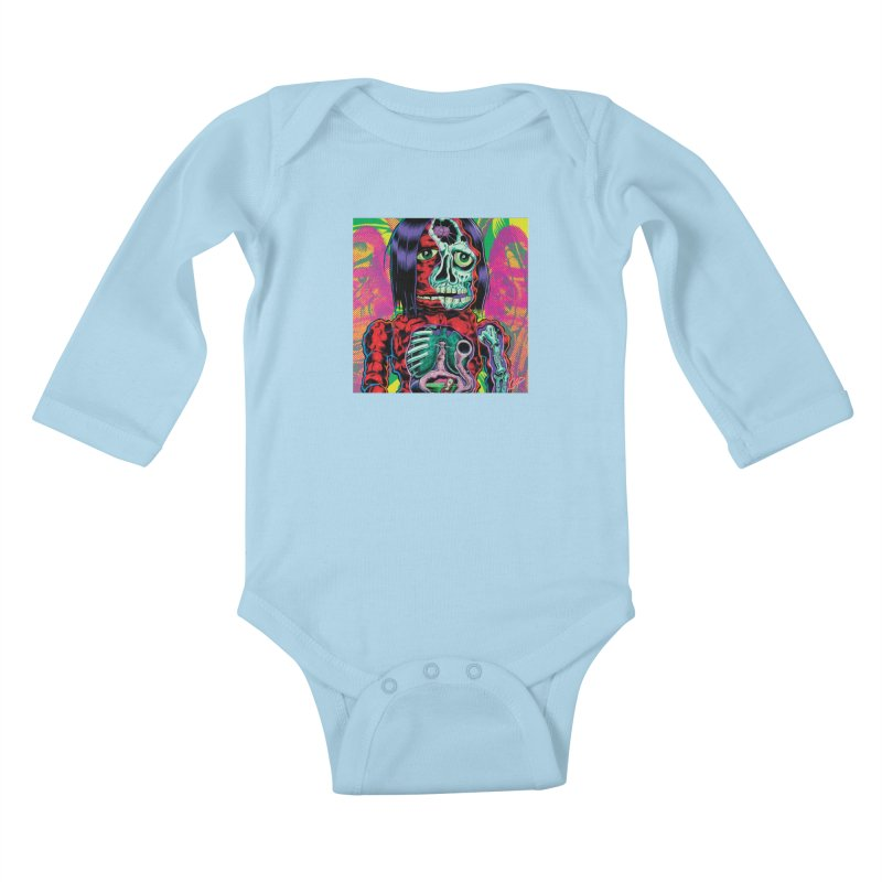 VIOLENT CAVEMAN Kids Baby Longsleeve Bodysuit by artofcoop's Artist Shop