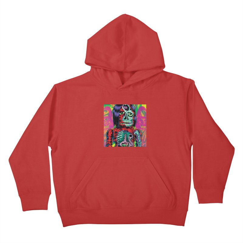 VIOLENT CAVEMAN Kids Pullover Hoody by artofcoop's Artist Shop