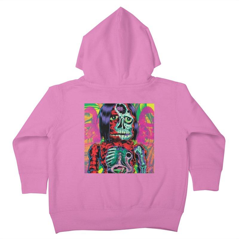 VIOLENT CAVEMAN Kids Toddler Zip-Up Hoody by artofcoop's Artist Shop