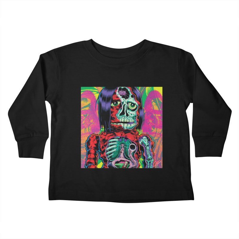 VIOLENT CAVEMAN Kids Toddler Longsleeve T-Shirt by artofcoop's Artist Shop