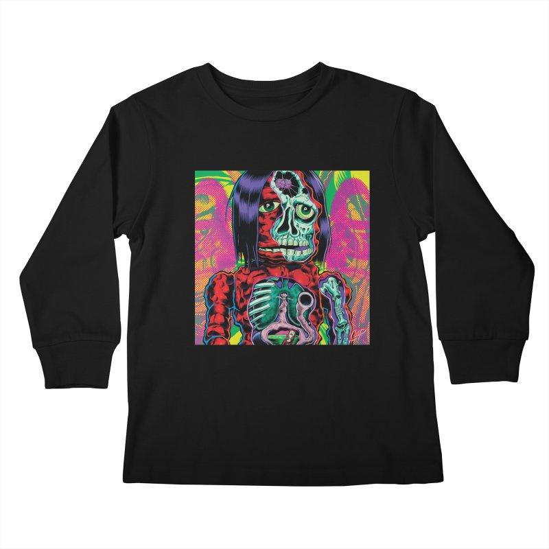 VIOLENT CAVEMAN Kids Longsleeve T-Shirt by artofcoop's Artist Shop