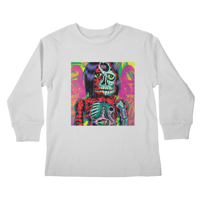 VIOLENT CAVEMAN Kids Longsleeve T-Shirt by artofcoop's Artist Shop