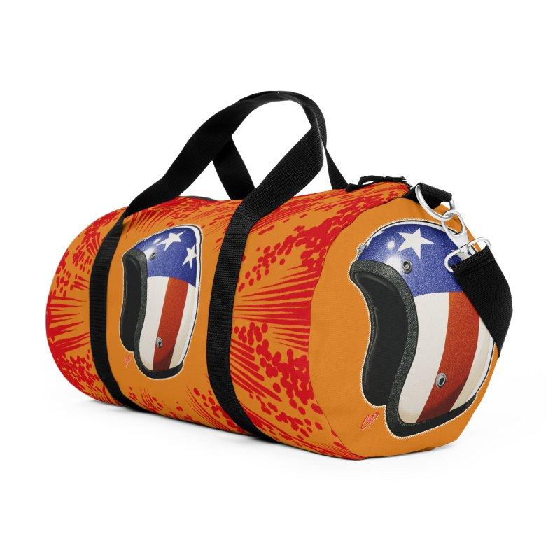 HELMET II Accessories Duffel Bag Bag by The Art of Coop