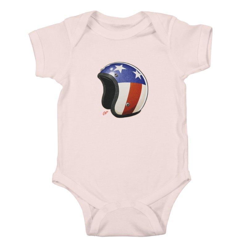 HELMET II Kids Baby Bodysuit by artofcoop's Artist Shop