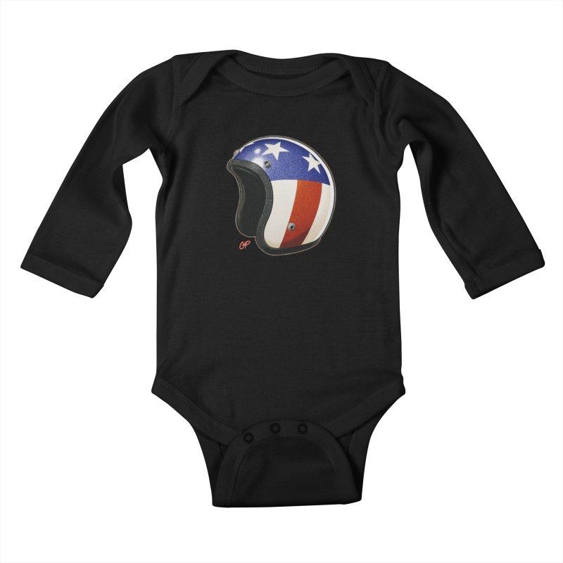 HELMET II Kids Baby Longsleeve Bodysuit by artofcoop's Artist Shop