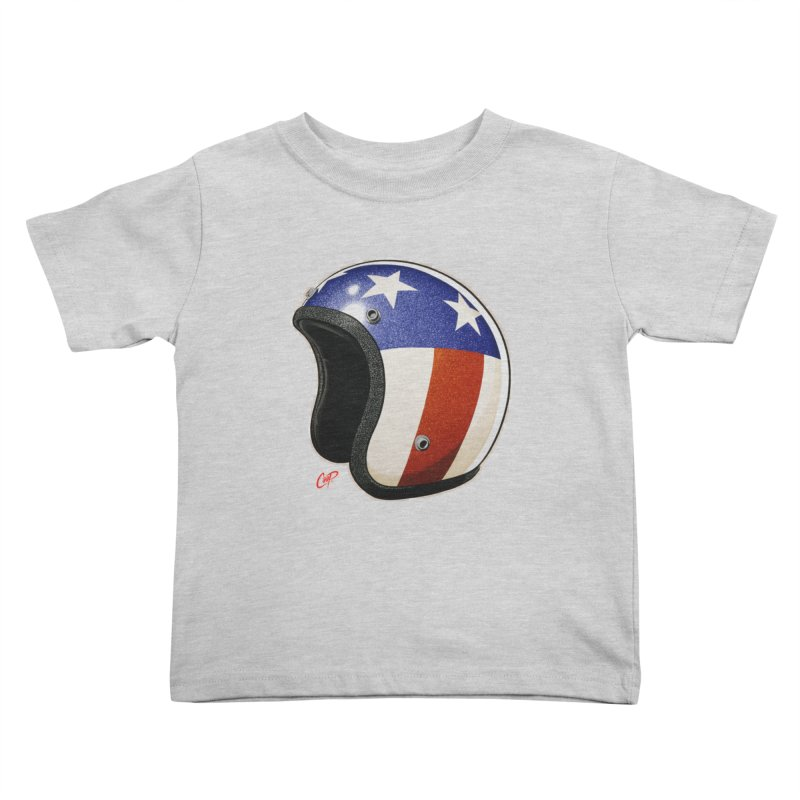 HELMET II Kids Toddler T-Shirt by artofcoop's Artist Shop