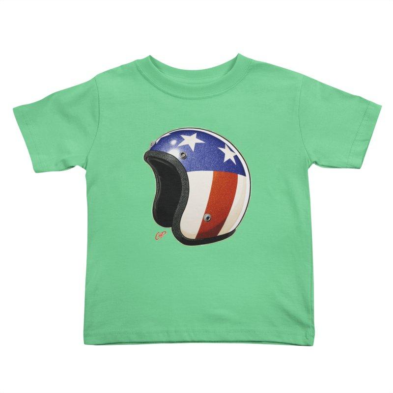 HELMET II Kids Toddler T-Shirt by artofcoop's Artist Shop