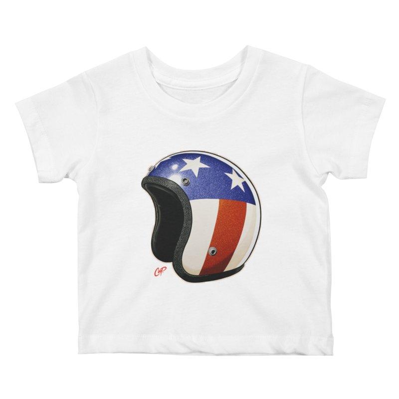 HELMET II Kids Baby T-Shirt by artofcoop's Artist Shop