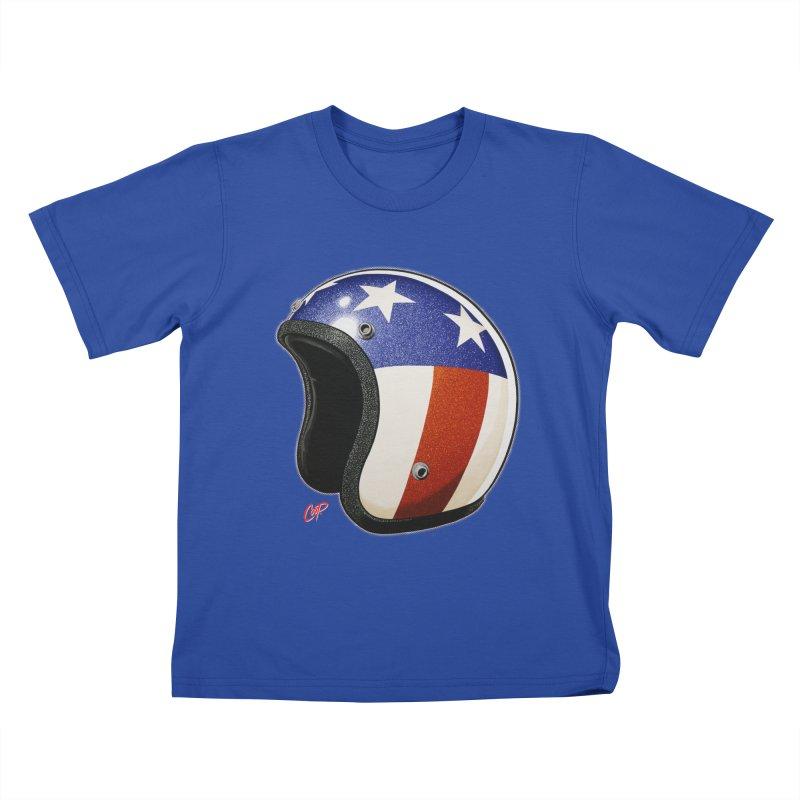 HELMET II Kids T-Shirt by artofcoop's Artist Shop