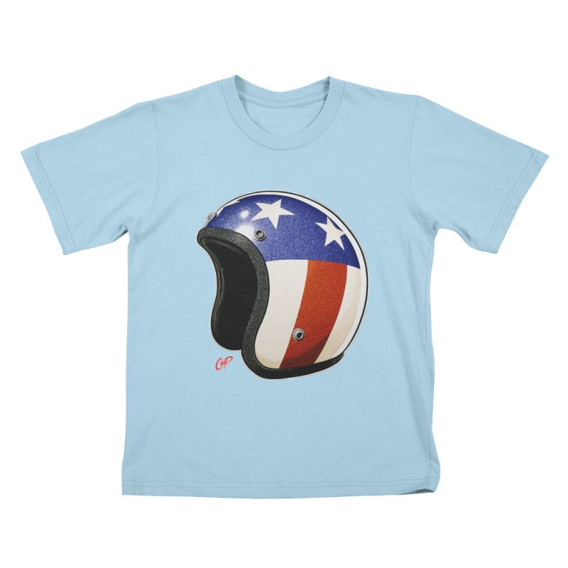 HELMET II Kids T-shirt by artofcoop's Artist Shop