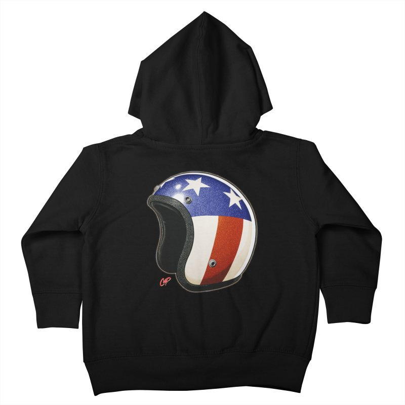 HELMET II Kids Toddler Zip-Up Hoody by artofcoop's Artist Shop