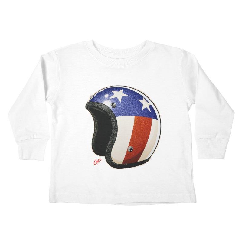 HELMET II Kids Toddler Longsleeve T-Shirt by artofcoop's Artist Shop