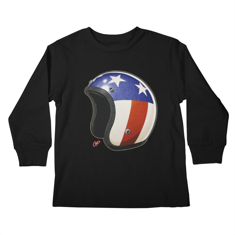 HELMET II Kids Longsleeve T-Shirt by artofcoop's Artist Shop
